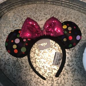 New NWT Dots Disney Ears Mickey Minnie Mouse